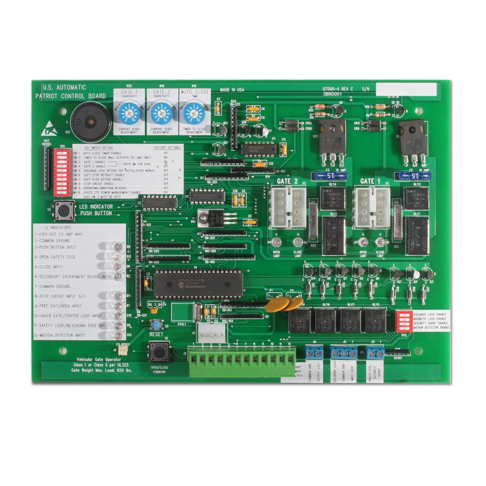 Control Board For Patriot And Rsl Usautomatic 500001 Usautomatic