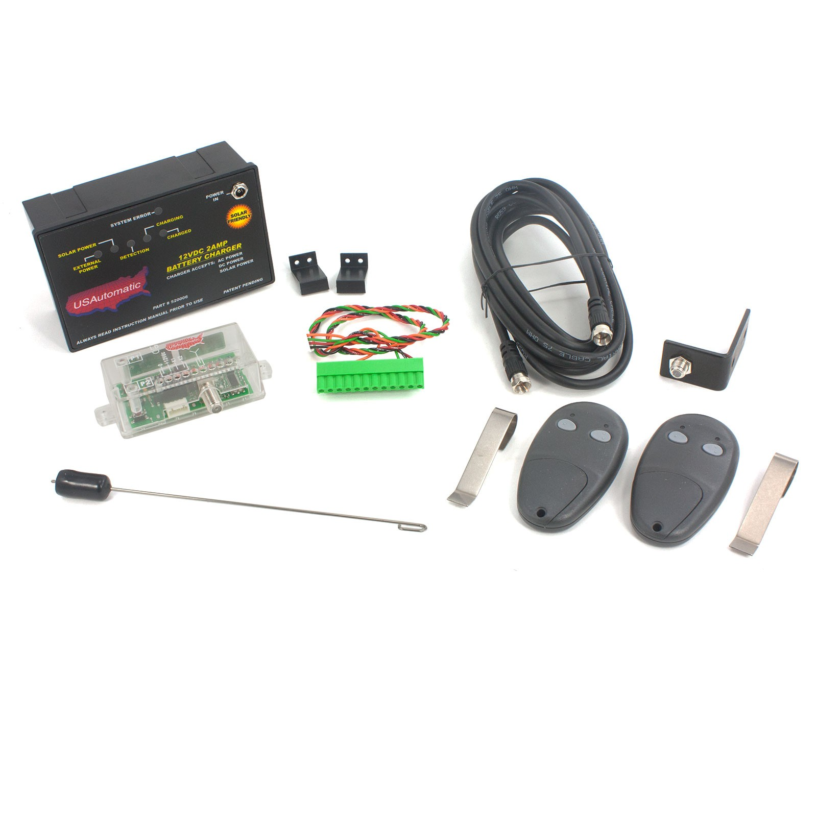 Patriot Ii Solar Charged Dual Swing Gate Operator With Lcr Receiver