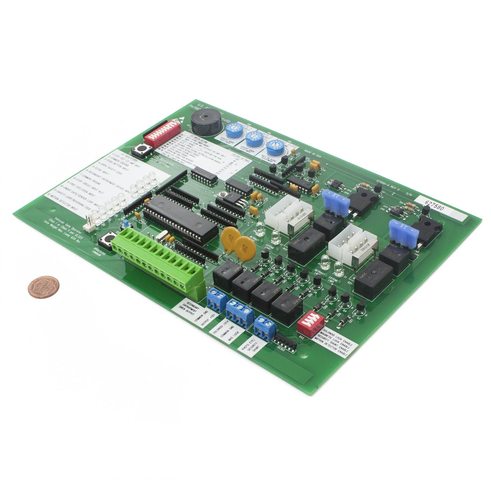 Control Board For Patriot And Rsl Usautomatic 500001 Controller Image Gate Opener Circuit Panel
