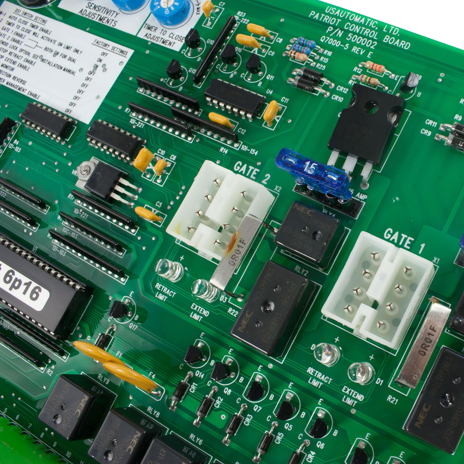 Gate Circuit Board Close Up Not Lossing Wiring Diagram Green Computer With Electronics Components And Control For Patriot Ul325 2016 Usautomatic 500002 Rh Usautomaticgateopeners Com Boards Gol Drawing